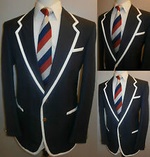 MENS NAVY BLUE 40 BOATING REGATTA COLLEGE TENNIS BLAZER SUIT JACKET SPORT COAT