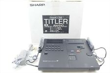 FAMICOM TITLER AN-510 Black Console System BRAND NEW SHARP FREE SHIPPING 2439