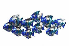 SCHOOL FISH METAL CUTOUT WALL ART CONTEMPORARY HOME DECOR TROPICAL ISLAND MODERN