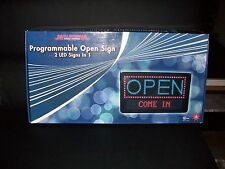 Programmable Scrolling Open Combo LED Indoor Message Sign Display w/Remote 22X13