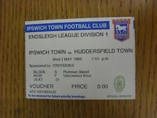 01/05/1996 Ticket: Ipswich Town v Huddersfield Town (Folded). This item has been