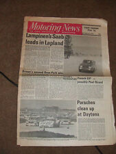 Motoring News 6 February 1975 Arctic Snowman Rally Daytona 24 Tasman F5000