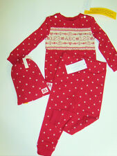 NWT Baby Girl Polo Ralph Lauren Sampler ABC's Pajama Set Embroidered 9M Cotton