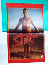 ►►Rare BIG OLD POLISH poster 1980' ~ Sting the Police + article photo Poland