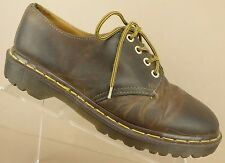 Dr Doc Martens England 1561 Brown Leather Casual Oxfords Shoes Womens 10 US/UK 8