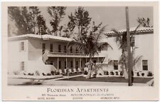 Real Photo Postcard Floridian Apartments in Hollywood, Florida~105971