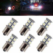 6X White 1156 12V BA15S 13-SMD 5050 LED Light Turn Signal Backup Reverse Bulbs