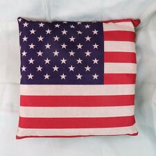 US SELLER-American US Flag Stars Stripes cotton linen cushion cover pillow case