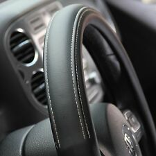 Slip-On Style Non Slip Steering Wheel Cover Water Resist **Solid Black**