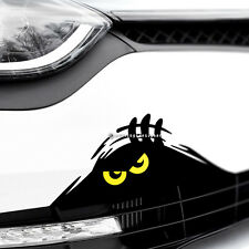 MONSTER YELLOW EYES PEEPER Funny Car,Bumper,Window JDM DUB Vinyl Decal Sticker