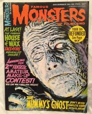 FAMOUS MONSTERS of FILMLAND MAGAZINE #36 1965 MUMMYS GHOST WAX MUSEUM++