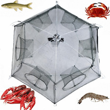 Fishing Bait Net Trap Cast Dip Cage Crab Fish Minnow Crawdad Shrimp Foldable Hot