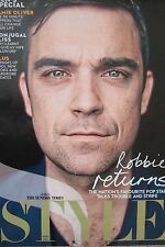 ROBBIE WILLIAMS UK 'Style' Magazine Clipping March 2010 *Take That Millenium