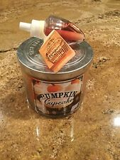 Bath and Body Works Pumpkin Cupcake 14.5oz Candle and 1 wallflower refill