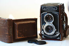 Minolta Autocord LMX with original camera case. TLR . Serviced and film tested!