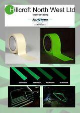 Glow In The Dark Photoluminescent Egress Tape 50mm x 1m