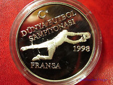 1996 Turkey  Large Proof Silver 750000 lira-World Cup Soccer(Football)