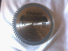 "New! Oldham 7 1/4"" 60 tooth Industrial Carbide Saw Blade"