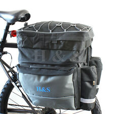 Top QUALITY Mountain Cycle Bicicletta Bisaccia Sella Posteriore Rack Borsa da viaggio --- L