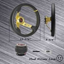 GOLD STEERING WHEEL + HUB ADAPTER TOYOTA 90-96 4 RUNNER 92-97 PASEO 90-98 TERCEL