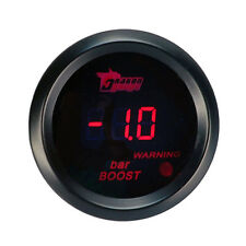 """2"""" 52mm Car Motor Red LED Light Digital Bar Turbo Boost Gauge Meter Black Cover"""