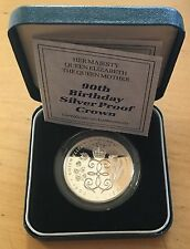 Great Britain 1990 5 Pounds, KM-962a, Proof, Silver, Queen Mother's 90th (Box4)