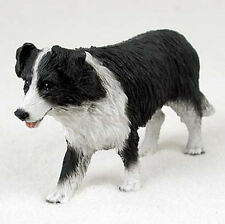 Border Collie Hand Painted Collectible Dog Figurine