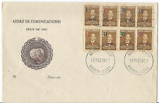 March 18 1952 Habana Havana Airmail FDC First Day Cover C51-C56, E15 & 474*