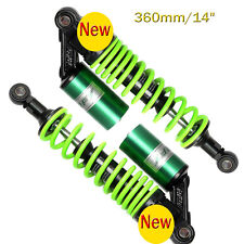 "2pcs 360mm/14"" Motorcycle Scooter Air Shock Absorber Rear Suspension Green"