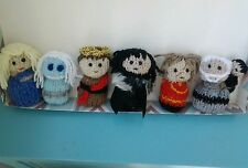 Game of thrones set of 6 knitted  desk buddies / figures. Popular characters.