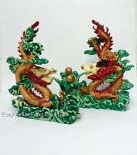 "2x 6"" H Color FENG SHUI Oriental Chinese Water Dragon Protection Figurine w/Ball"