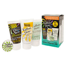 Tattoo Goo Aftercare Complete Kit with Salve Lotion Soap Renew Enhancer SPF50