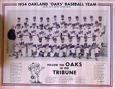 1954 Oakland Oaks Baseball Team Photo, Oakland Tribune.Pacific Coast League PCL