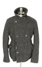 Mens DOLCE & GABBANA Gray Flannel Wool DB Peacoat Jacket 56 46 2XL / XL NWT