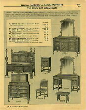 1932 PAPER AD The Essex Salvatore Bedroom Suite Set Furniture Post Bed