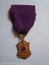 Médaille LIONS CLUB TREASURER trésorier métal doré émaillé ORIGINAL MEDAL ORDER