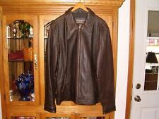 Mens Eddie Bauer Distressed Leather Bomber, Flight Style Jacket, Coat