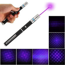 2 in 1 Purple Laser Pointer Pen Light 405NM Visible Beam with 5mw Star Cap Head