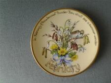 DAVENPORT FEBRUARY SMALL PLATE COUNTRY DIARY OF AN EDWARDIAN LADY EDITH HOLDEN