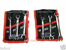 """6 pc Flare Nut Wrench Set SAE and Metric Open Wrench kit 6 - 14mm 1/4"""" - 9/16"""""""
