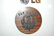 Ruger old style Magnet Walnut Wood sign Home Made American Made