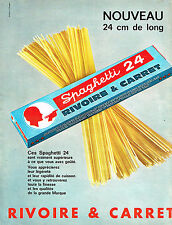 PUBLICITE ADVERTISING 114  1964  RIVOIRE & CARRET  spaghettis 24
