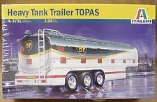 Italeri 1/24 Heavy Tank Trailer Model TOPAS BP gas oil tanker # 3731