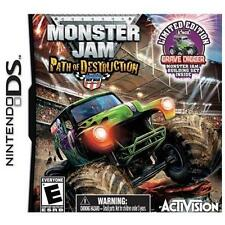 NINTENDO DS MONSTER JAM 3 PATH OF DESTRUCTION LIMITED EDITION NEW K'NEX GRAVE