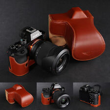 Genuine real Leather Full Camera Case bag cover for Sony A7 Sony A7R Sony A7S