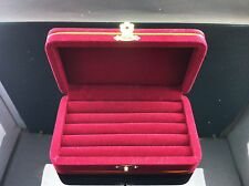 Crimson Big Velvet Ring Box Jewelry Flock Jewelry Box ,For Gift,Made in Thailand