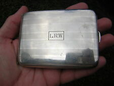 VINTAGE STYLISH STERLING SILVER CIGARETTE CASE CARD CASE