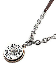 NEW! Western Necklace - Silver Shell Necklace/Leather Strap/Crystal