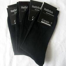 4 Paar Herren Socken 100% Baumwolle glatte Struktur schwarz 43 - 46