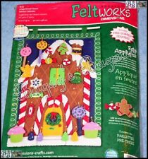 Dimensions GINGERBREAD HOUSE ADVENT CALENDAR Felt Applique Christmas Kit - 8157
